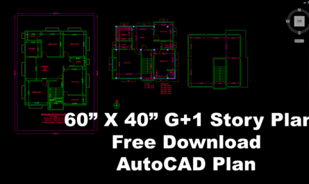 Building Autocad plan free download